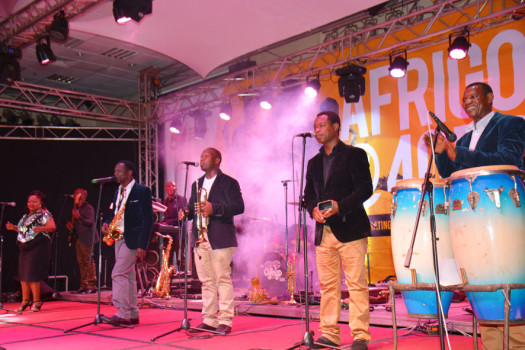 Afrigo band performing at their 40th Anniversary