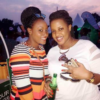 Argatha Loswash partying with her best friend Joan Mbabazi at Blankets and Wine on Sunday