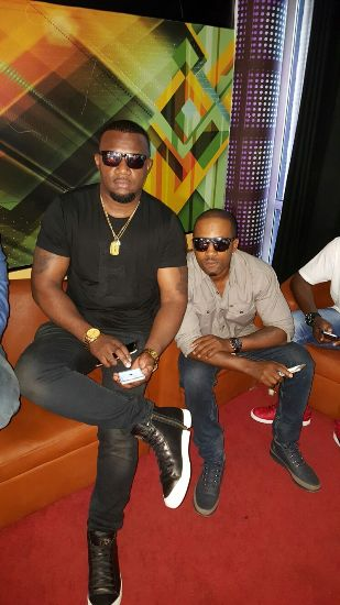 Cameroon Gitawo with Meddie Ssentongo, the group is beefing with Rich Gang over who has got more money