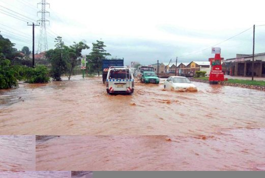 Floods caused by El Nino rains in Uganda