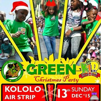 Green Christmas Party is on this Sunday at Kololo Airstrip