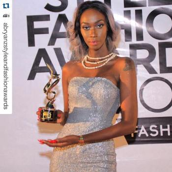 Judith Heard won the award for the most stylish Female Celebrity 2015