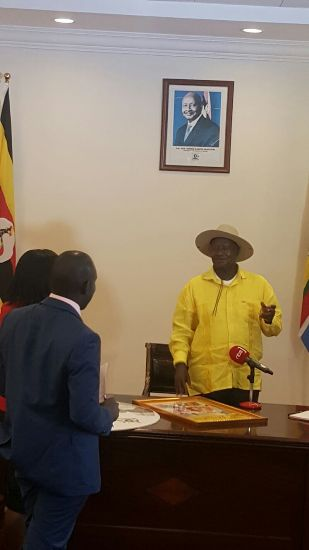 M7 at State house today with NBS staff