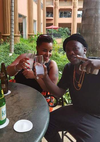 Mary and Steady at Kampala Serena Hotel recently