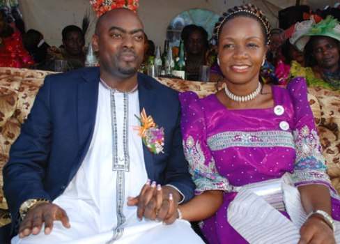 Mbidde and Susan at the day of their introduction