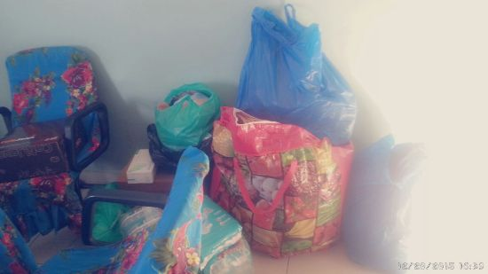 Some of the items Juliana delivered to the charity home