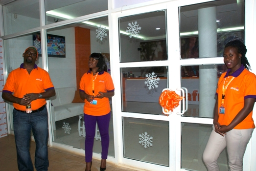The new state of the art Africell Store at Forest Mall