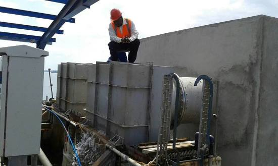 Testing water works at Ggaba plant
