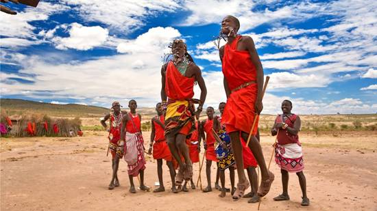 Kenya's Maasai in their traditional attires