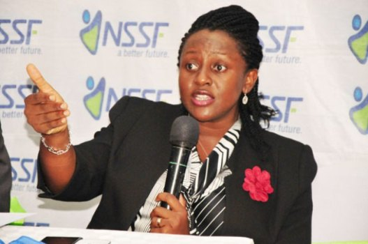 NSSF assistant MD Geraldine Ssali
