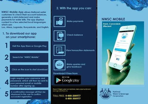 NWSC App can help you manage your account