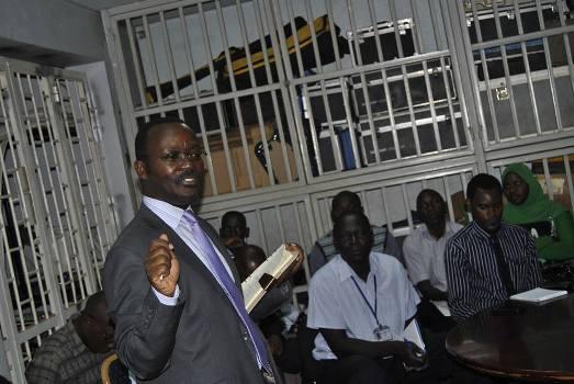 NWSC MD Silver Mugisha addressing Kampala Water team