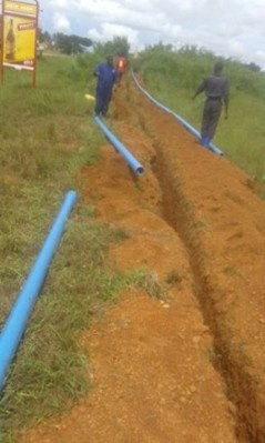 NWSC ongoing water works in Wakiso