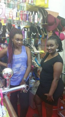 Nancy and Hope at their shop