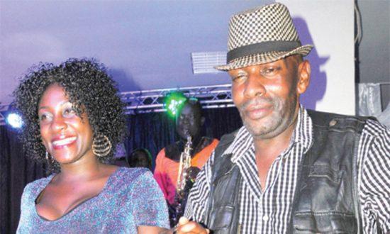 Sarah Zawedde with Allan Kanyike