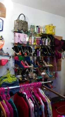 Shoes and bags are also there