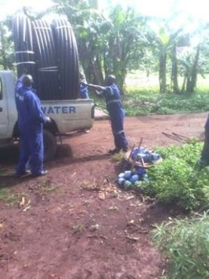Water works extension in Kamuli