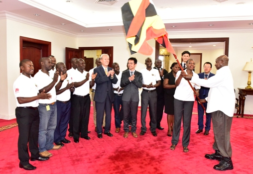 President Museveni flagged off Huawei seeds recently