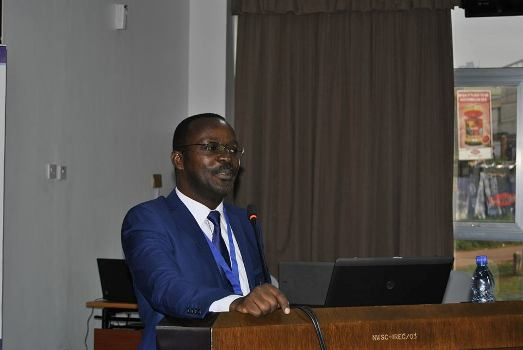 NWSC MD Eng. Silver Mugisha giving opening remarks yesterday