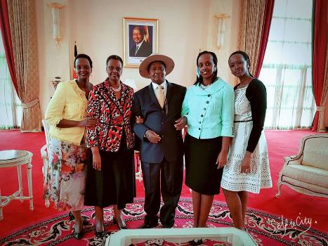 First Lady and family after swearing in