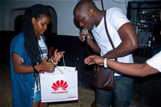 Sheila Aine won Huawei Mate S at the party