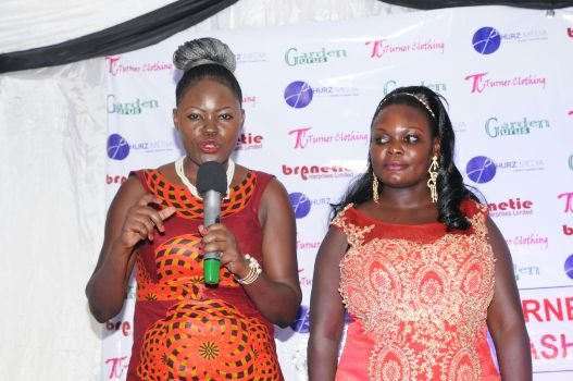 CEO Christine Apio giving a speech for the official launch. Accompanied by one of the directors Sylvia Amuge