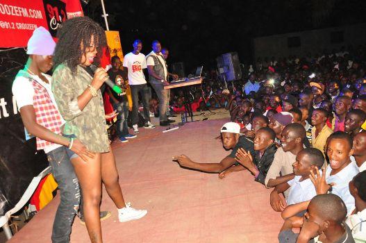 Leila Kayondo rocking KIU students