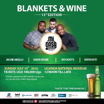 Lineup of entertainers at Blankets and Wine 13th edition