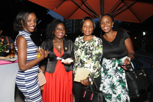 Some of the ladies at the launch with NTV Uganda MD Aggie Konde (2nd R)