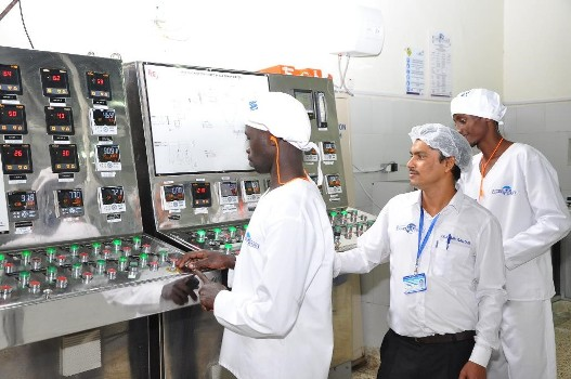 Pearl Diary Employees during operations at the Milk Plant in Biharwe, Mbarra
