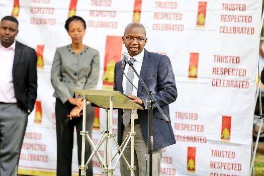 Mr. Nyimpini Mabunda, Managing Director, Uganda Breweries Limited (UBL) announcing the sponsorship of the Kampala City Festival 2016