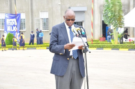 The Minister for Animal industry Bright Kanyontore Rwamirama gives speech