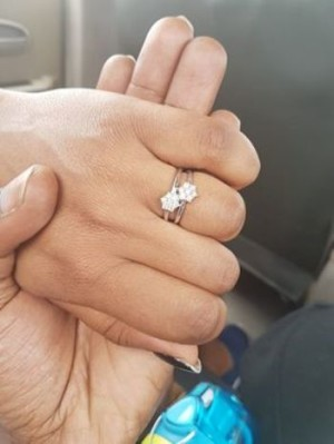 The ring which SK Mbuga put on Angella's finger