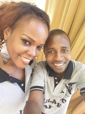 Bryan Muhumuza and a friend pose for a selfie at Serena