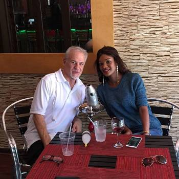 Salma with her husband Eric
