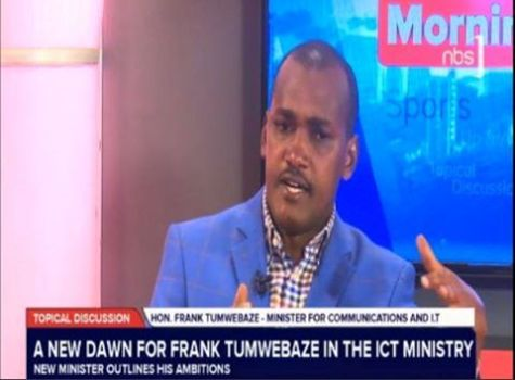 Hon Frank Tumwebaze while appearing on NBS Television