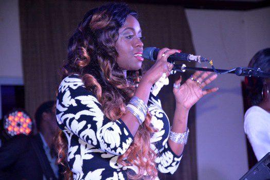 Angella Katatumba performing at her concert last night