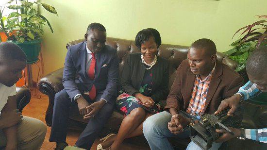 Kin Kariisa, Jennifer Musisi and Joseph Masembe