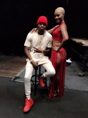 Diamond Platnumz and Yvette in Melbourne on Friday