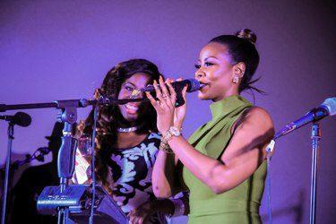 Desire Luzinda supporting Angella on Friday at Serena