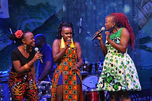 Mo Roots with Solome and Sandra Suubi perform at the Blankets a& Wine XIII