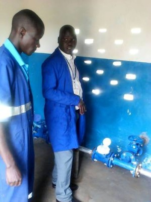 NWSC today commissioned a new motorised borehole