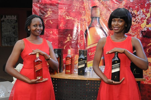 Ushers at the Whisky Mentorship that was hosted by Johnnie Walker at Panamera Bar