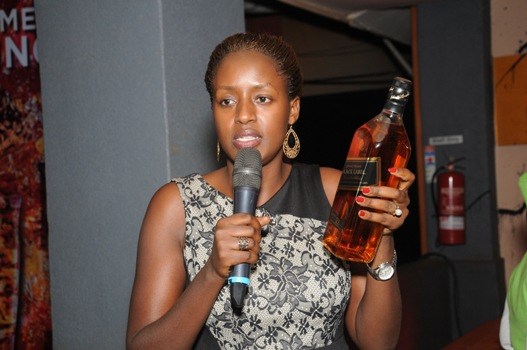 BL Brand Manager, Premium Spirits, Ms. Lois Aber tips the audience on how to tell a fake Black Label from a genuine Black Label