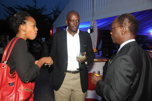 UBL Marketing Director, Juliana Kaggwa shares a moment during the CEO 's dinner