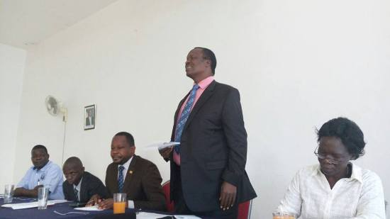 Minister of Water during a meeting with Masaka Stakeholders today