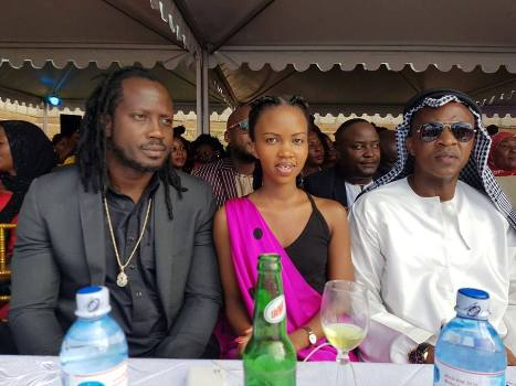 Bebe Cool, Sheilah Gashumba and Frank Gashumba at a party on Saturday