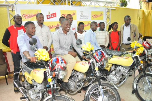 A total of 12 motorbikes were given away by UBL to Tubbaale winners