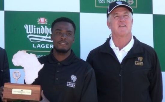 Aaron Simfukwe (with trophy) will be taking part in this years Tusker Malt Uganda Golf Open starting 10th August