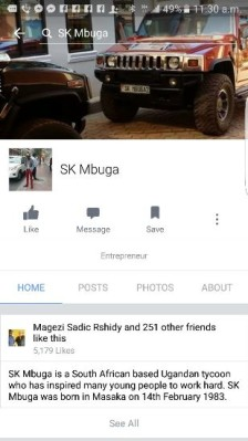Another fake account in Mbuga's name